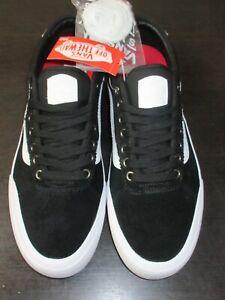 Vans Men's Chima Ferguson Pro 2 Canvas Suede Skate shoes Black White Size 11