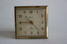 Vintage SWIZA 8 JewelsTravel Alarm Clock - Swiss Made - Working