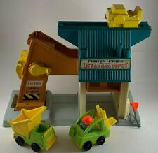 Fisher-Price Lift & Load Depot Playset 942 Truck Fork Lift 1 Worker Vintage 1976