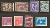 Romania 1937 MNH Mi 528-535 Sc B69-B76 Federation of Romanian Sports Clubs **
