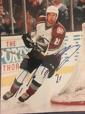 Peter Forsberg Signed Colorado Avalanche 8x10 Photo Autographed Sweden