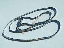 Collier Chaine Serpentine Acier Inox Maille Serpent 1mm