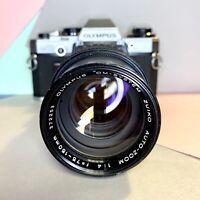 Olympus OM 10 35mm SLR Film Camera & Zuiko Auto Zoom 75-150mm F/4 Zoom Lens Lomo