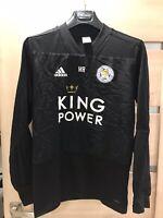 Adidas Leicester Football Club Men's Sweatshirt Black Size S King Power