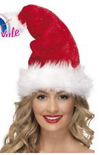 Santa paillette CHAPEAU FEMMES Père Noël déguisement Noël Tenue accessoire