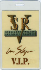 STEVIE Ray VAUGHAN 1989 Laminated Backstage Pass VIP Cream