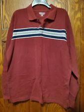 New listing NEW Mens Basic Editions Shirt with collar Long Sleeve Size L Rugby Style