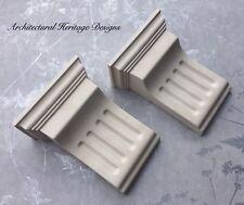 2 x Victorian Plaster Fluted Corbel - H165mm X W130mm X D65mm