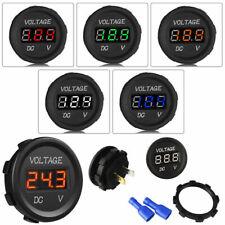 Motorcycle Waterproof 12V-24V Car LED DC Digital Display Voltmeter Socket Meter@