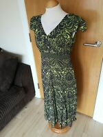 Ladies PER UNA Dress Size 12 Green Crinkle Smart Party Evening Wedding