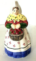 "The Haldon Group Ceramic Pitcher Provincial Woman Basket Apples 1992 8.5""H EUC"
