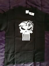 The Punisher Movie Embossed Print T-Shirt  Size L 2003 Marvel New with Tag