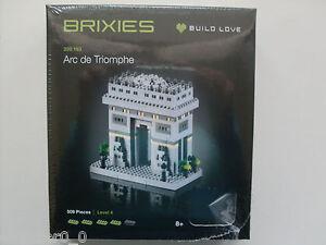 Brixies 200.163 - Triumphbogen, 3D Puzzle, Mini Blocs de Construction 509 Pièces