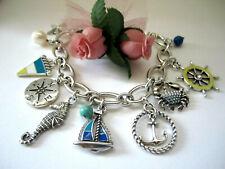 "Brighton ""BLUE WATER ANCHOR"" Charm Bracelet (MSR$98) New/Pouch"