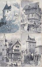 ROBIDA Artist Signed Artiste Signé JEANNE D'ARC 26 Vintage Postcards pre-1930