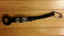 Ka-bar K-Barley mcnett skull wrapped Bottle Opener with black paracord lanyard!!
