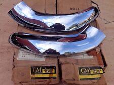 NOS 1953 Oldsmobile 88 98 UPPER GRILLE BAR EXTENSIONS Original GM Pair Rocket