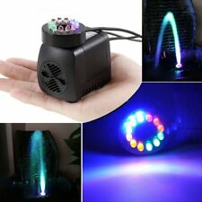Submersible Water Pump with 12 LED Lights for Fountain Pool Garden Pond Fish in
