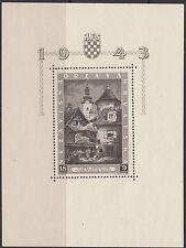 CROATIA : 1943 Philatelic Exhibition, Zagreb miniature sheet SGMS89a MNH