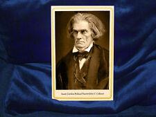 19th Century Southern Fire-Eater JOHN C. CALHOUN Cabinet Card Photo Civil War