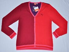 Women's PUMA Large Cardigan Rio Red L/s With Tags