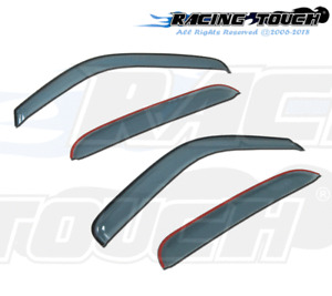 For Honda Accord CrossTour 10-15 Ash Grey Out-Channel Window Visor Sun Guard 4pc