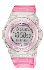 Casio Womens BG13024ER Baby G Stripy Pink Jelly Strap Quartz Wrist Watch