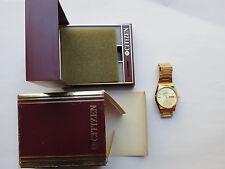 Vintage Citizen Quartz Gold-Tone Day&Date Watch, 3801-898605, 35-8401, Excellent
