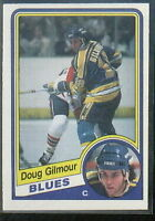 1984-85 O-Pee-Chee Blues Hockey Card #185 Doug Gilmour RC