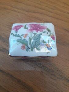 Hammersley Floral Small Trinket/Pill Box