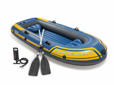 INTEX Challenger 3 Inflatable Boat Set with Pump & Oars   68370EP Free Ship
