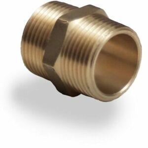 "Brass Pipe Plumbing Fittings Brass Hexagon Nipples Size 3/4"""