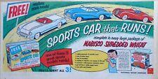 Vintage 1954 ad for Nabisco Shredded Wheat - Corvette, Jaguar & Skylark cars