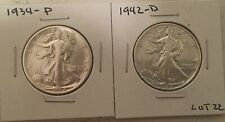 New ListingLot of Two Walking Liberty Half Dollars 90% Silver Us Coins