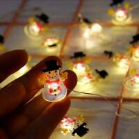 2M LED Lights Xmas Tree Ornaments String Outdoor Merry Christmas Hanging Decor