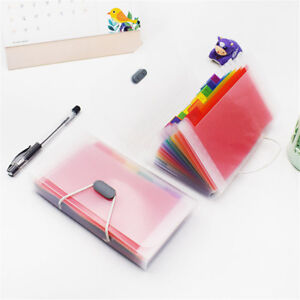 1pc A6 File Bag Rainbow Color Mini Receipt Bill Bag Organizer Folder Holder NEW