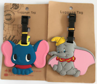 New Disney Dumbo & Timothy Name Card PVC Travel Suitcase Backpack Luggage Tags