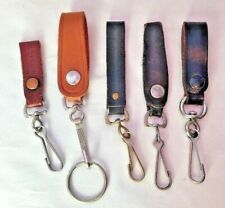 Leather Strap Bolt Snap Key Chain Accessory
