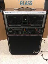 Denonet Double Cassette 8 Track Karaoke Player Model Gp-K220 Auto Eject Echo