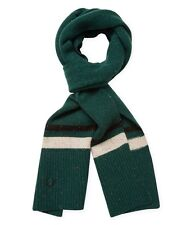 Fred Perry Men's Tipped Scarf Ivy Green Lambswool NWT