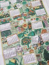Vintage PAT ALBECK National Trust 1998 Working Garden Irish Linen Tea Towel