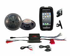 "Outdoor Marine Grade Bike Boat ATV 5.25"" Speakers, 400W Amplifier iPod MP3 Input"