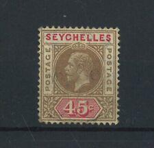 "SEYCHELLES-1912-16 45c ""SPLIT A"". A very fine used ERROR"