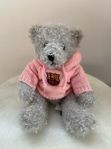 Official FC Barcelona Soccer Bear Plush Stuffed Toy Football Futbol Messi Pink