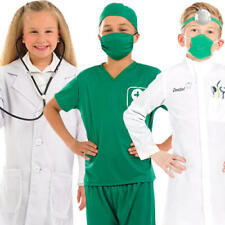 Medical Kids Fancy Dress Doctor Nurse Hospital Uniform Boys Girls Childs Costume