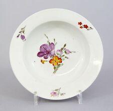 #A59 Royal Copenhagen tiefer Teller,Suppenteller Blumendekor, um 1800