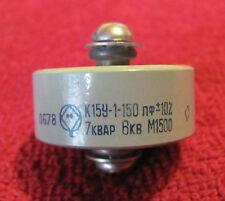 HV ceramic capacitor type K15U-1 (К15У-1), 150pF, +/-20%, 7kVAr, 6kV