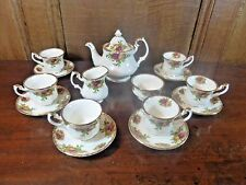 RARE STUNNING Royal Albert OLD COUNTRY ROSES MINIATURE 15pc 1962 TEASET