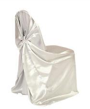 80 Satin Universal Chair Cover - Self Tie - Wedding Banquet