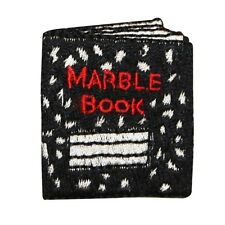 ID 0974 Notebook Writing Marble Book School Embroidered Iron On Applique Patch